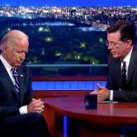 Joe Biden Stephen Colbert