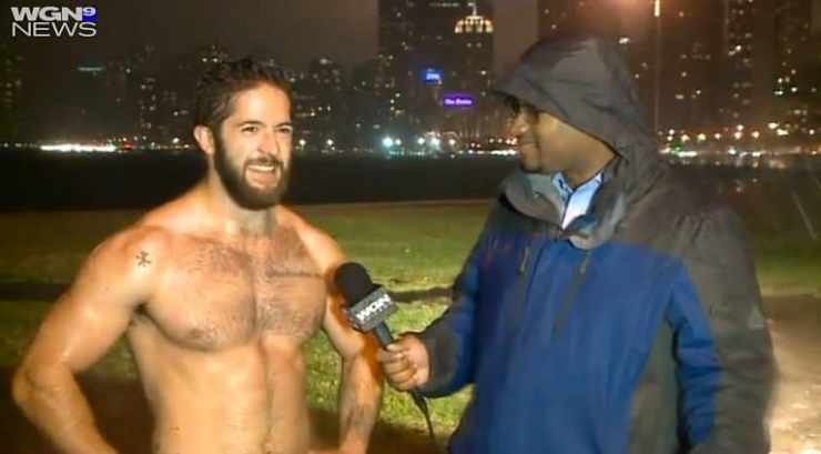 WGN Shirtless jogger