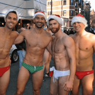 santa speedo run