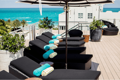 Hotel Croydon rooftop Miami Beach, top 12 hotels Miami, Towleroad and ManAboutWorld