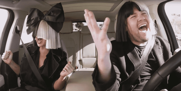 Sia Slays (and Explains the Mystery Behind Her Wig) in Carpool Karaoke with James Corden – WATCH