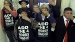 idaho add the words