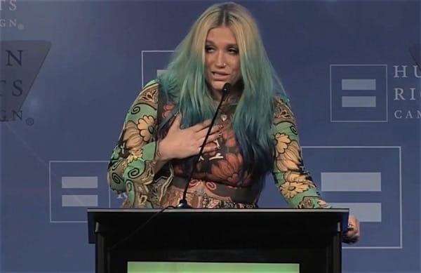 Kesha breaks down