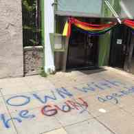 Anti-Gay Graffiti and Burned Rainbow Flag Turn Up in Two DC Neighborhoods