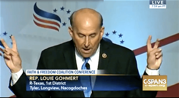 louie gohmert air quotes