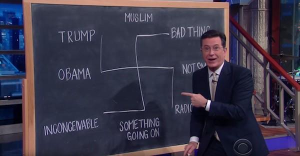 Donald Trump Stephen Colbert