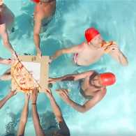 These Male Synchronized Swimmers Medaled in Pizza-Munching: WATCH