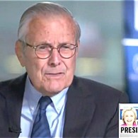 Donald Rumsfeld, 84, Says George HW Bush, 92, is Voting for Clinton Because 'He's Up in Years' — WATCH