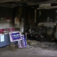 firebombed office firebombing