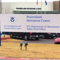 About 700 migrants are expected to be housed at the Prairieland Detention Center, including a separate 36-bed unit for trans individuals. The facility will be operated by the private prison company Emerald Correctional Management LLC. Courtesy of RAICES