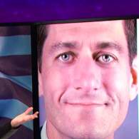 Samantha Bee Warns That Trump's 'Faithful Husky' Paul Ryan is Going to Make It a Long Four Years: WATCH