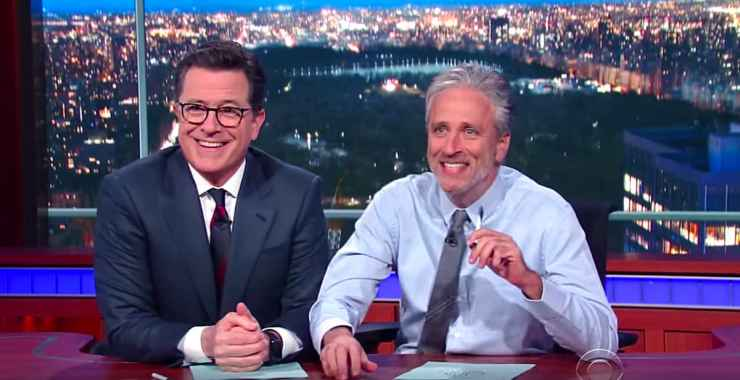 Colbert Jon Stewart media