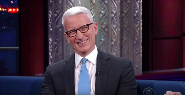 Watch Stephen Colbert Taunt Anderson Cooper for His Trump Twitter Stance