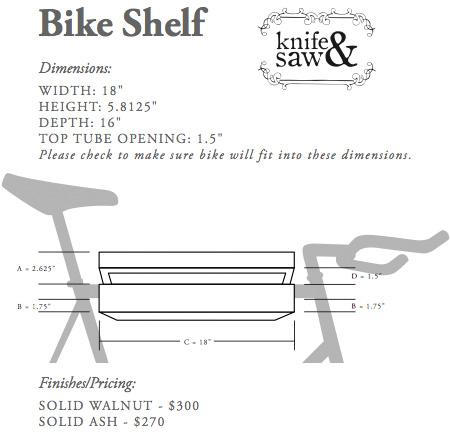 Bike Shelf Dimensions