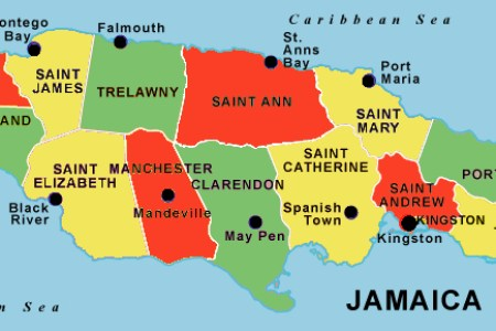 jamaica parishes map2