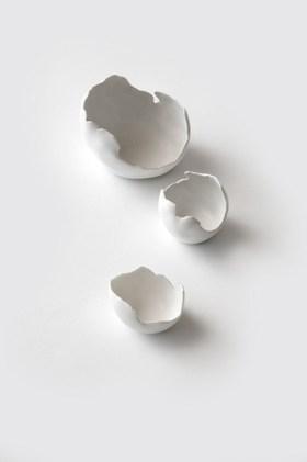White Egg Shell Bowls - Tracy Muirhead