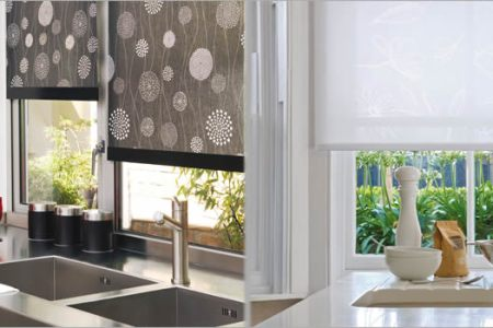 the gallery for > roman blinds kitchen