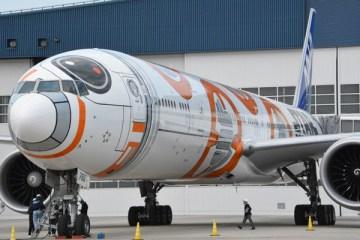 ANA、「BB-8 ANA JET」ロールアウト スター・ウォーズシリーズ全機揃う