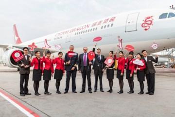 香港ドラゴン航空、「キャセイドラゴン」新デザイン機材の運航を開始