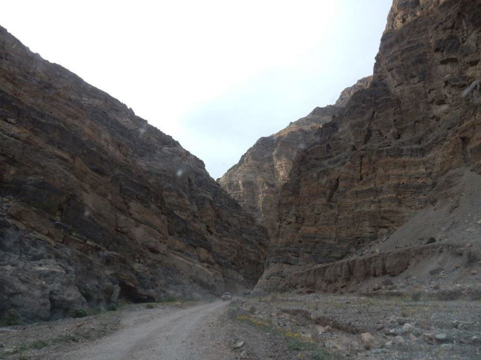 Nearing the end of the Titus Canyon road.