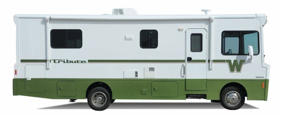 This is actually a new Winnebago, the Tribute, created to look very much like their classic designs.