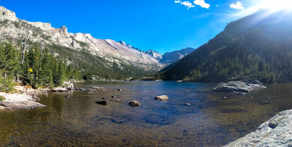 """Mills Lake is named after Enos Mills, the man commonly referred to as the """"father of Rocky Mountain National Park"""". Mills became the area's first naturalist. He made great contributions to the field that would ultimately lead to that honored profession of a park ranger."""