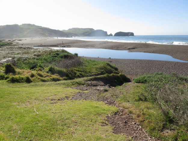 Rodeo Beach at the beginning of the run