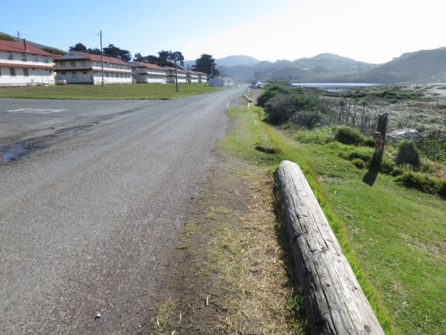 The road between the parking lot and the Miwok Trailhead