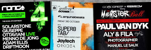 October 2014 UK Trance Events