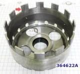 Барабан (Шелл) тормозной ленты, (Shell/Kickdown Drum) общая высота 98 мм, Под ленту 44мм, 12 выступов A4BF3/A4AF3/KM1715/176/177/178/A4BF1/BF2/F4A22/F4A23/W4A32 1993-up