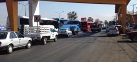 Transportistas de AMOTAC se manifiestan en Querétaro