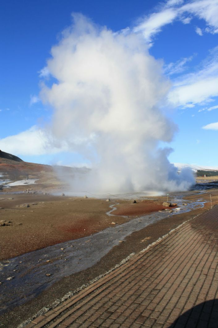 Standing in the way of Iceland's Geyser