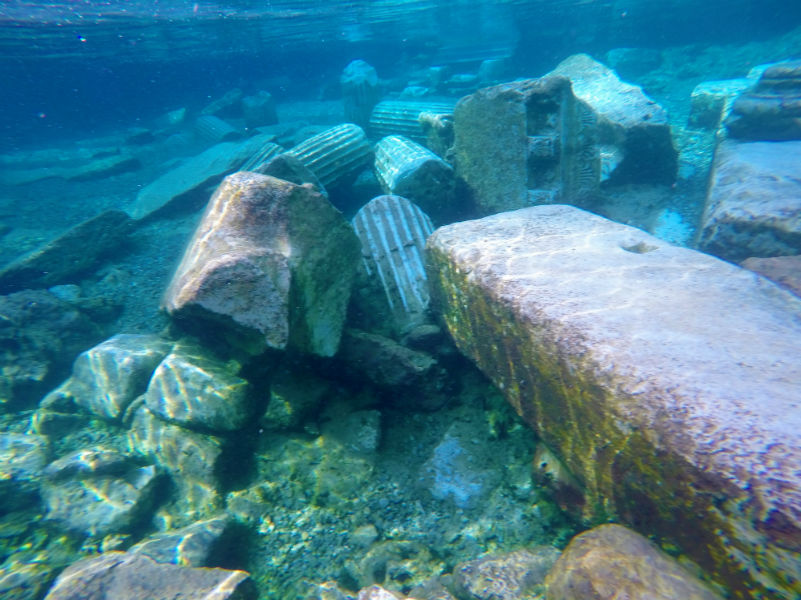 Swimming Pool Antiques : I went swimming in the ancient ruins of hierapolis