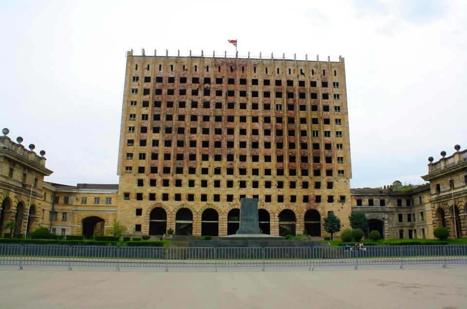 Abkhazia's Abandoned Burnt Out Government Building