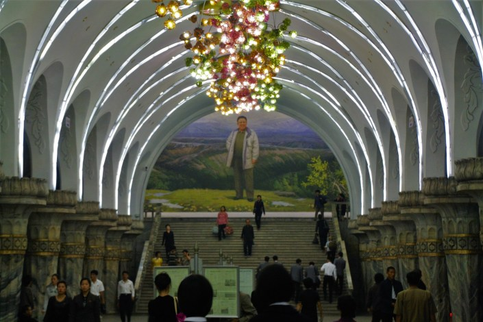 Underground On The Pyongyang Metro