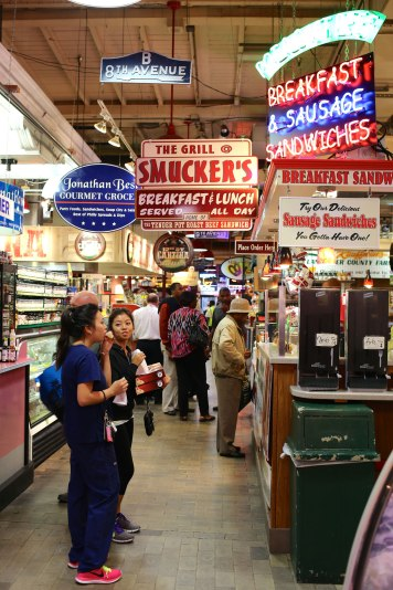 Amish smoked meats, German würst, Vietnamese phở, all with a healthy serving of melted cheese steak. Reading Terminal Market is a bustling lunchtime spot to watch Philadelphians having lunch and to enjoy some classic unhealthy American food.