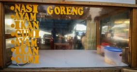 Nasi goreng at the fish market