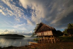 House in Wagu village, Sepik River