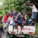 Crowded PMV from Aitape to Wewak