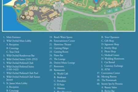 jamaica montego bay secrets wild orchid resort map