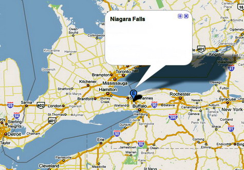 map to niagara falls