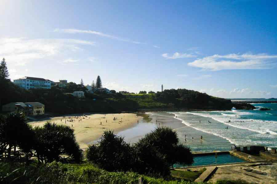 The small beach town of Yamba, NSW
