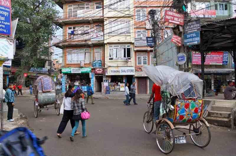 Rickshaws at work