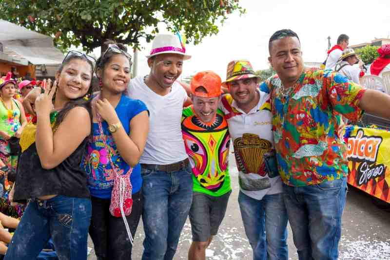 Photo of Author with Friends at Carnival