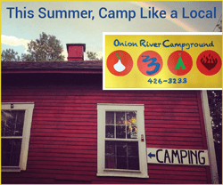 Camp in Vermont, Onion River Campground