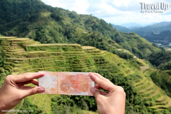 sidequest 20 peso bill with Banaue Rice Terraces TravelUp