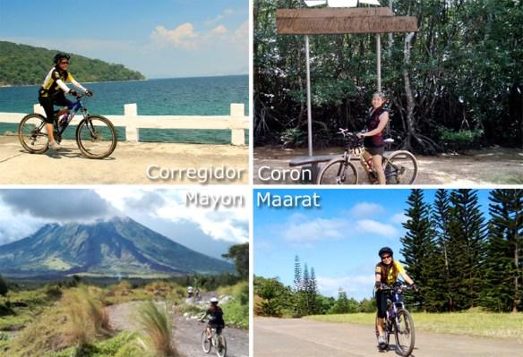 biking corregidor coron mayon maarat TravelUp