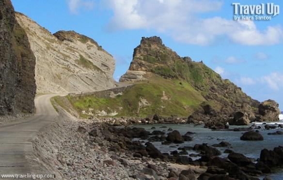 road cliffs batanes