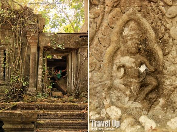 beng melea temple cambodia door carving