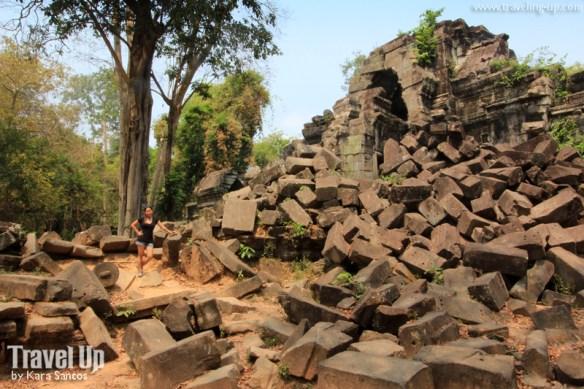 beng melea temple cambodia rubble